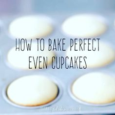 How to bake perfect even cupcakes - use a 2 oz. ice cream scoop or a 1/4 cup…