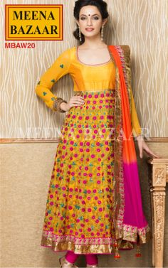 Embroidered Anarkali Suit on Georgette