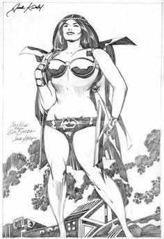 Jack Kirby 's New God Big Barda,former elite warrior for evil Darkseid who now…