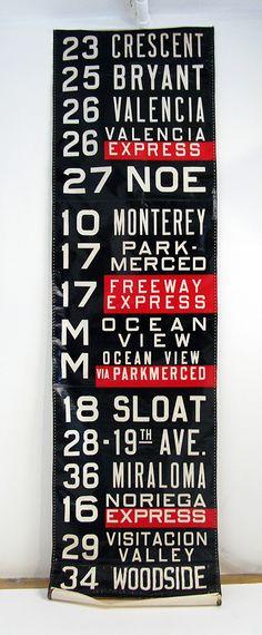 vintage San Francisco destination sign
