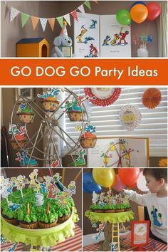 Go Dog Go book birthday party for boys www.spaceshipsandlaserbeams.com
