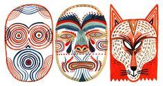 Mask designs by Laurent Moreau
