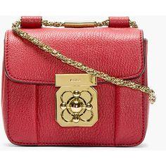 CHLOE Red Grained Leather Mini Elsie Bag