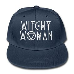 Witchy Woman Youth Unisex Adjustable Flat Hat Bill Snapback Baseball Cap In 4 Colors -- Awesome products selected by Anna Churchill