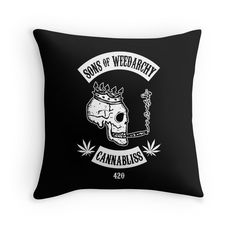 """Sons of Weedarchy"" Throw Pillows by Samuel Sheats 