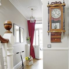 hallway decorating 550705860658525128 - Modern Country Style: The Best Paint Colours For Small Hallways Click through for details. Front Door Curtains, Edwardian Haus, Edwardian Style, Hallway Walls, Hallway Ideas, Door Ideas, Hallway Paint, Hallway Inspiration, Hallway Furniture