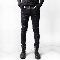 37.53$  Watch now - https://alitems.com/g/1e8d114494b01f4c715516525dc3e8/?i=5&ulp=https%3A%2F%2Fwww.aliexpress.com%2Fitem%2Fclassic-riped-jeans-2015-new-fashion-man-hole-beggar-jeans-HARAJUKU-distressed-slim-jeans%2F32492499050.html - classic riped jeans 2017 new fashion man hole beggar jeans HARAJUKU distressed slim jeans