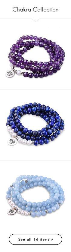 """Chakra Collection"" by paybackgift on Polyvore featuring jewelry, bracelets, amethyst jewellery, crown jewelry, amethyst jewelry, clear jewelry, clear crystal jewelry, peace jewelry, lazuli jewelry and peace symbol jewelry Amethyst Jewelry, Crystal Jewelry, Jewelry Bracelets, Jewellery, Clear Crystal, Chakra, Peace, Crown, Shoe Bag"