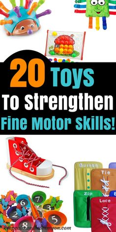20 Fine Motor Skills Toys For Toddlers and Preschoolers! The best fine motor skills activites and toys! Great fine motor skills strengthening for toddlers and preschoolers! Autistic Toddler, Activities For Autistic Children, Educational Activities For Toddlers, Motor Skills Activities, Educational Toys For Kids, Learning Toys, Infant Activities, Toddler Preschool, Fine Motor Skills