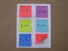 1: Ask students to gather any necessary review materials such as textbooks and class notes   2: Give each student a sheet of plain paper and six Post-it Notes. Students will also need a pencil.    3: Challenge students to create relevant quiz questions on each of the Post-it Notes, then stick them on the sheet of paper. Have students write the correct answer to each review question under the Post-it® Note.  4: Once the quizzes are complete, invite students to swap quizzes with their friends