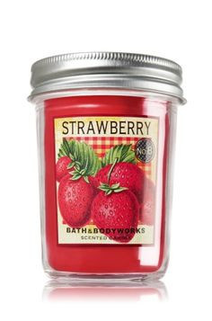 Strawberry 6 oz. Mason Jar Candle - Slatkin & Co. - Bath & Body Works @Maggie Brown could be a fun gift idea...