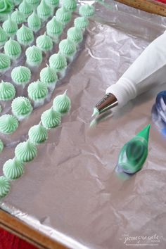 Cream Cheese Mints- yummy but they are not firm so they are difficult to eat when thawed.