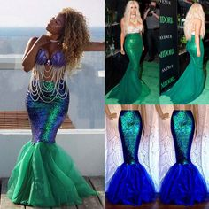 Quality is the first with best service. We will try our best to reduce the risk of the custom duties. Adult Mermaid Costume, Siren Costume, Mermaid Halloween Costumes, Halloween Cosplay, Cosplay Costumes, Mermaid Cosplay, Halloween 20, Long Mermaid Dress, Mermaid Prom Dresses