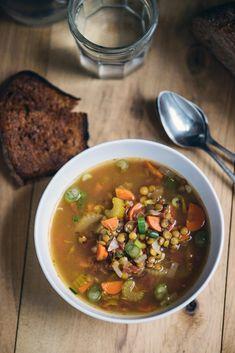 Lentil Soup that's heavy on the veggies.