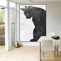 large canvs art original painting black and white abstract
