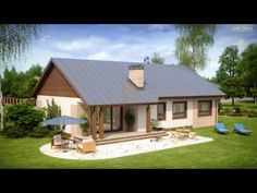 Проект одноэтажного дома с возможностью адаптации чердачного помещения - Z98 | Z500 Home Fashion, Cabin, House Styles, Home Decor, Country Homes, Blue Prints, Decoration Home, Room Decor, Cabins