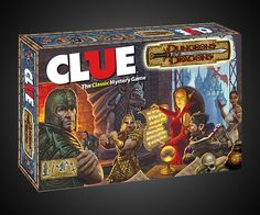 Dungeons and Dragons Clue Board Game: I loved classic clue. This is a fun remake. It was the Wizard in the dungeon with the vorpol sword. Clue Board Game, Board Games, Dungeons And Dragons Gifts, Clue Games, Geek Toys, Mystery Games, Dragon 2, Game Pieces, Geek Stuff