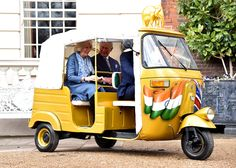 Prince Charles Photos - Camilla, Duchess of Cornwall and Prince Charles, Prince of Wales ride in a rickshaw at Clarence House on March 26, 2015 in London, England. In November 2015 a fleet of thirty rickshaws will journey 500km across Madhya Pradesh, India, in a race to save Asias elephants from extinction. - The Prince of Wales and Duchess Of Cornwall Launch 'Travels To My Elephant' Rickshaw Race