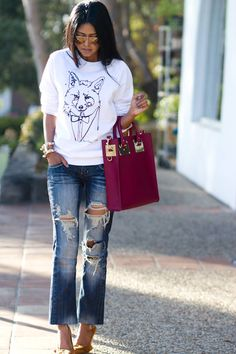#sophiehulme Meets #mrfox   Not a big fan of the jeans but I can make it work