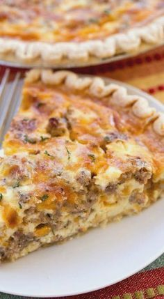 Sausage and Ranch Quiche - Brunch Recipes What's For Breakfast, Breakfast Dishes, Breakfast Casserole, Breakfast Recipes, Breakfast Quiche, Cornbread Casserole, Sausage Casserole, Breakfast Burritos, Sausage Breakfast