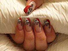 Nail art motivo 279 - Motivo con purpurina para decoración de uñas - http://www.schmucknaegel.de/