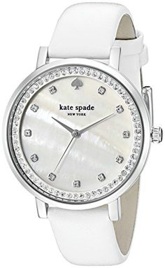 Women's Wrist Watches - kate spade new york Womens KSW1049 Monterey Analog Display Analog Quartz White Watch >>> Learn more by visiting the image link.