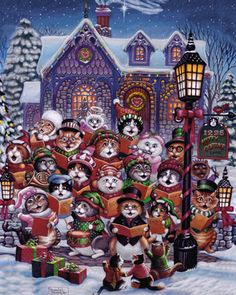 Purrfect Harmony Jigsaw Puzzle | What's New | Vermont Christmas Co. VT Holiday Gift Shop