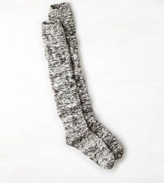 Charcoal AEO Marled Over the Knee Sock