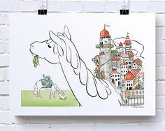 One Horse Town van renskedekinkelder op Etsy