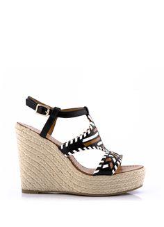Sandale Compensée SAKE Noir - Sandales à talons - CHAUSSURES FEMME - FEMME f8487a033730