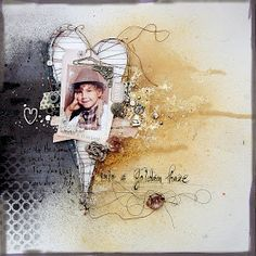 SCRAPBOOK ABUNDANCE: Black and Gold Layout