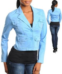 G2 Fashion Square Two Button Front Women`S Blazer $17.96