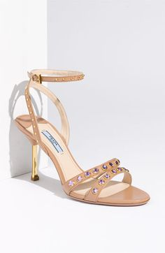 Prada Ankle Wrap Stud Sandal available at Nordstrom