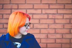 Pink and Orange hair   Cute Outfit by Jess Vieira