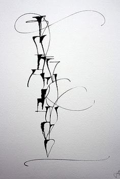 ✍ Sensual Calligraphy Scripts ✍  initials, typography styles and calligraphic art -  Louise Jolly Lettres clous
