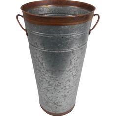 Add a farmhouse touch to your patio or sunroom with this galvanized bucket planter, perfect for a topiary or basil plant.Product: