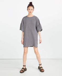 DRESS WITH FRILLY SLEEVES-Mini-DRESSES-WOMAN | ZARA United States