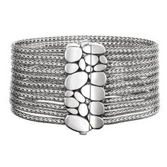 Kali multi-row chain bracelet with a  pebble clasp from John Hardy