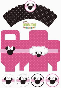 Minnie Mouse: Sweet Free Printable Party Kit.