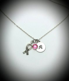 Check out this item in my Etsy shop https://www.etsy.com/listing/458357620/breast-cancer-awareness-necklacebreast