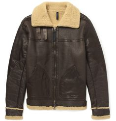 Belstaff Shoreham Shearling-Lined Leather Bomber Jacket | MR PORTER