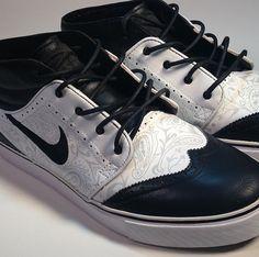"Nike SB Zoom Stefan Janoski ""Tuxedo"" Customs x Smooth Tip (3)"