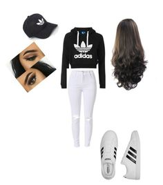 """Adidas"" by tabbytha-walsh ❤ liked on Polyvore featuring Topshop and adidas"