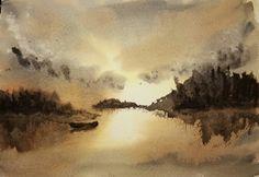 My sunset inspired by Steve Cronin