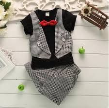 Baby Boys Clothes Fashion Fake Two Pieces Lattice Gentleman Serving Baby Clothing Summer Short-Sleeved Suit Pants Sets - Baby Boys Clothes Fashion Fake Two Pieces Lattice Gentleman Serving Ba – eosegal Baby Boy Dress, Baby Suit, Baby Boy Shoes, Baby Boy Outfits, Newborn Outfits, Boys Clothes Style, Baby Boy Clothing Sets, Guy Clothes, Children Clothing