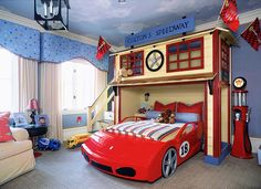 creative-children-room-ideas-11: Racetrack room