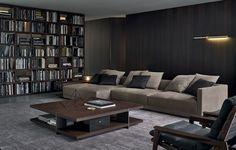 Canapé d'angle / contemporain / en cuir / en tissu - BRISTOL - Poliform - Vidéos