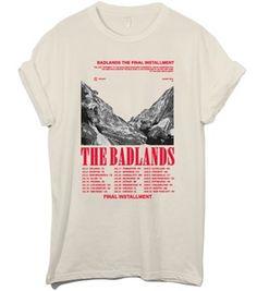 badlands final installment tour shirt in beige