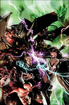 JUSTICE LEAGUE DARK #28 Written by J.M. DeMATTEIS Art and cover by MIKEL JANIN 1:25 Steampunk variant cover by TOMMY LEE EDWARDS
