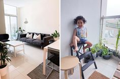 A Filipino Family Based in Dubai Shares How Living With Less Made Them Happier Condo Interior Design, Condo Design, House Design, In Dubai, Brighten Dark Room, Small Condo, Small Space Solutions, Condo Decorating, House And Home Magazine
